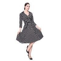 Polka Dot Vintage Retro Audrey Hepburn Vestidos Dress Elegant Dresses Women Girls A Line Dress