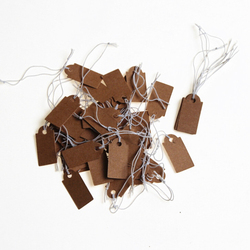 New Price Tag 100Pcs Brown Kraft String Blanks Wedding Favour Price Label Paper Pricing Tags With Rope 22x13mm