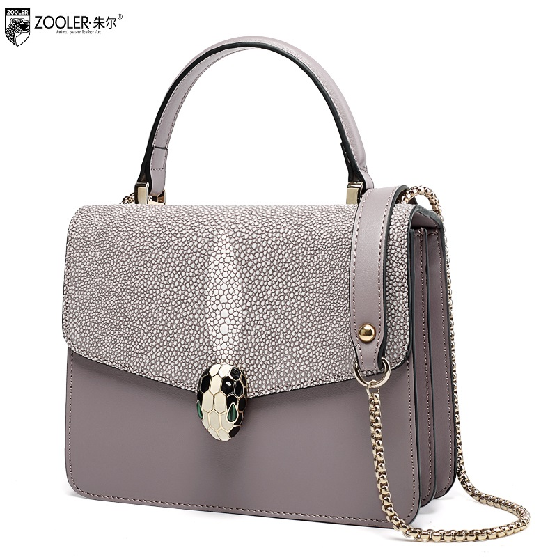 ZOOLER wholesale 2017 women cowhide bags genuine leather shoulder bag diamond  designed handbag OL famous brand crossbody #1906