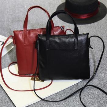 Soft PU Leather Handbags Crossbody Bags for Women 2018 Fashion Shoulder Bag Tote Bag Ladies Messenger Bag Bolsos Mujer Black Red