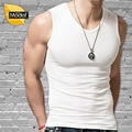 Tank top men solid tight Broad shoulders V-Neck
