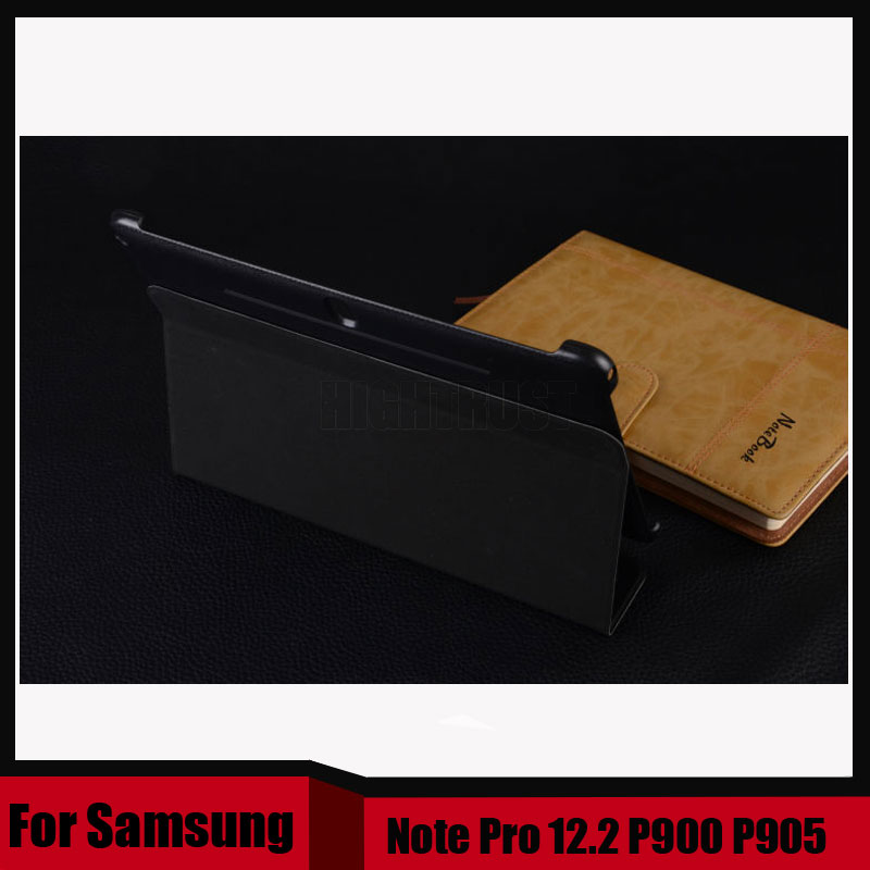 Official Stand Pu Leather Cover For Samsung Galaxy Tab Note Pro 12.2 P900 P901 P905 case + Stylus