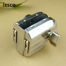 Stainless steel bolt lock, glass door, glass door lock, the central opening, with a single button hook lock