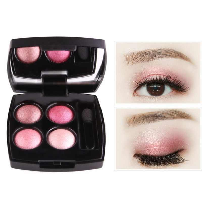 Portable Matte Eyeshadow Palet Alami Telanjang Bumi Warna Eye Shadow Make Up Kecantikan 4 Warna