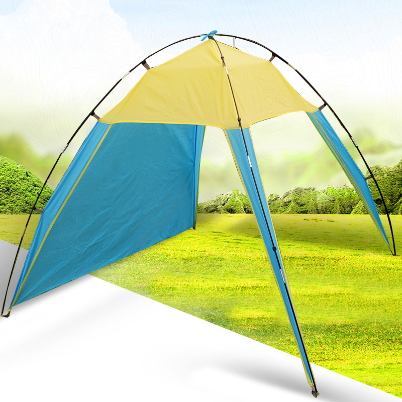 175150140cm Outdoor Camping Sun Shelter Shade Beach Tent for Summer Holiday Fishing Swimming Boat Fishing Roof Tent 3-4 Person (1)