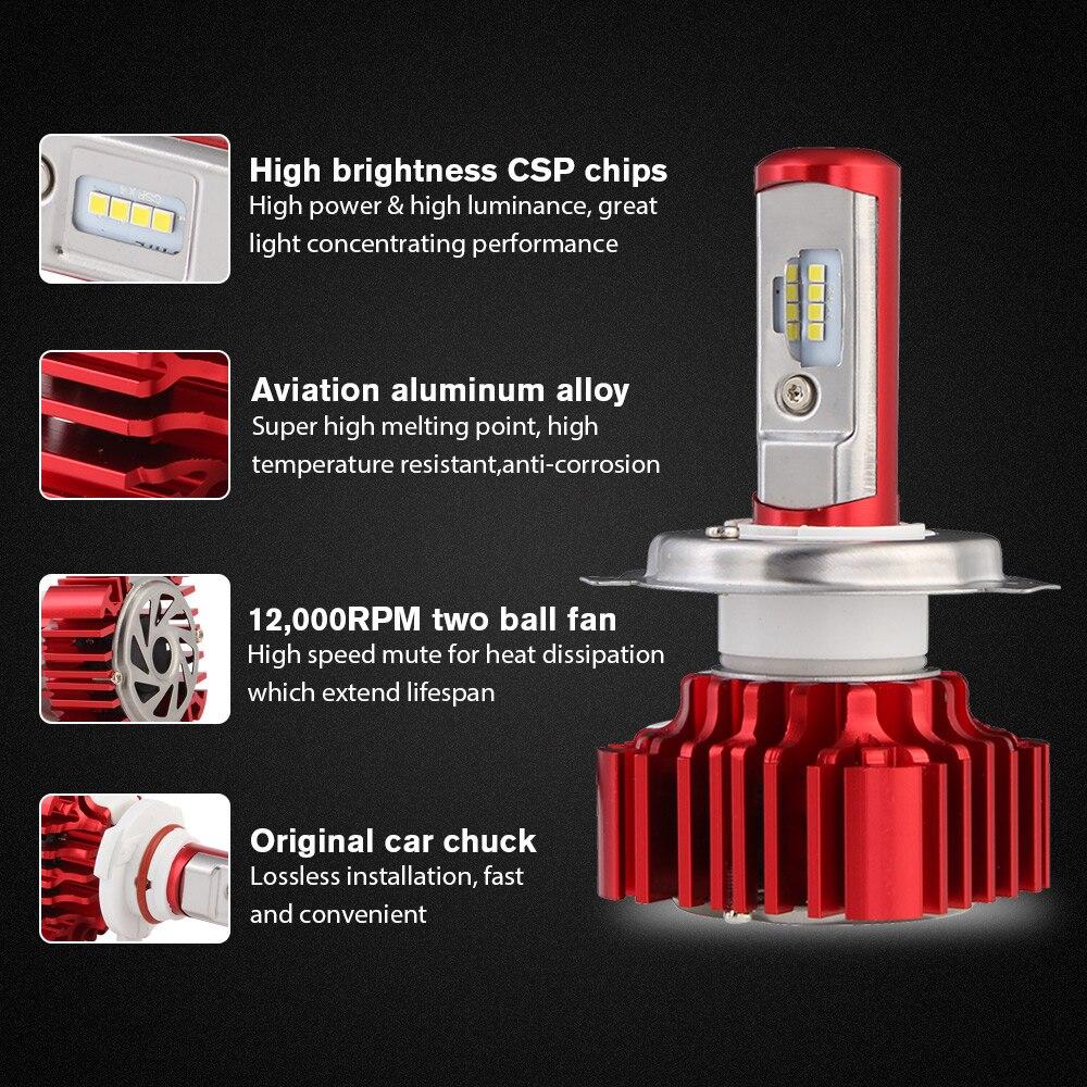 12V Led Light H4 Hi/Lo Car Led Headlights Bulb/Auto H4 H7 H11 9005 ...