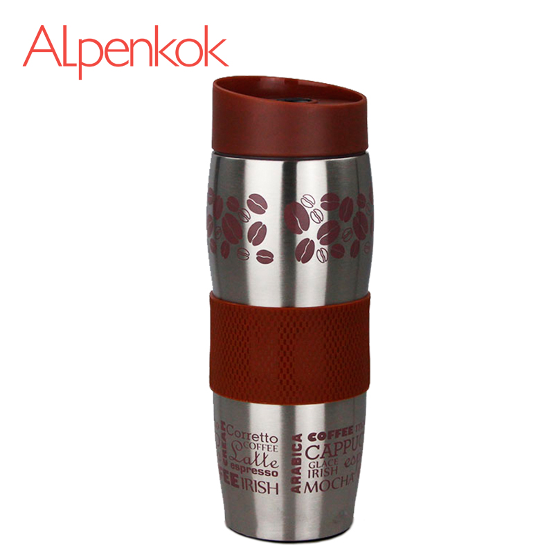 Alpenkok AK-04024A Hot cup 400ml Vacuum Flask Thermose Travel Sports Climb Thermal Pot Insulated Vacuum Bottle Stainless Steel korean penguin vacuum cup water bottle mug coffee tea stainless steel thermos food jar thermal container insulated soup holder