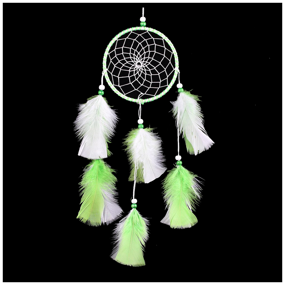Best Gift Dreamcatcher with Wood Beads Hanging Wind Chimes with Feather Antique and Elegant Decoration Ornament Wind Chimes Gi
