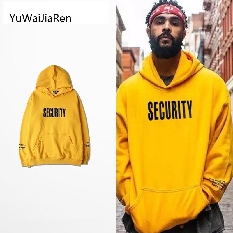 YuWaiJiaRen Purpose Tour Hoodie Men Justin Bieber Fear Of God Autumn Tracksuit Letter Streetwear SECURITY Hoody