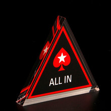 Poker All In Button Triangle Acrylic Texas Holdem PokerStars Cards Guard Chips Climbing Accessories