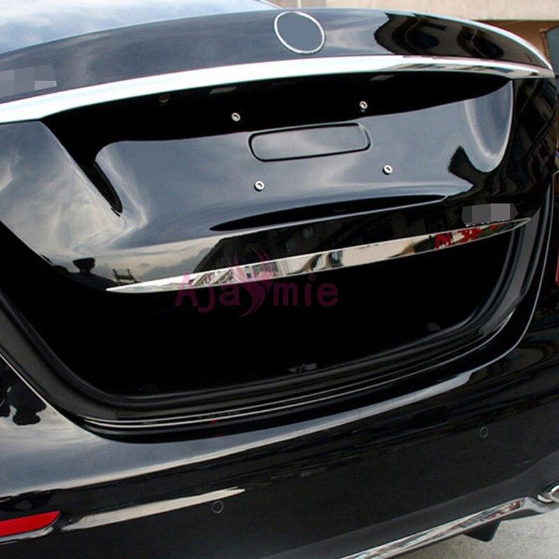 Accessoires adaptés pour Mercedes Benz 2016 2017 classe E W213 coffre arrière garniture vapeur en acier inoxydable seuil de porte Chrome style de voiture