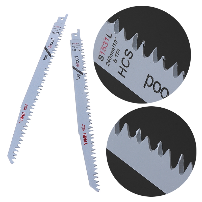 "Image 5 - 2pcs S1531L Reciprocating Sabre Saw Blades 9.5"" 240mm For Cutting Metal Wood-in Saw Blades from Tools"