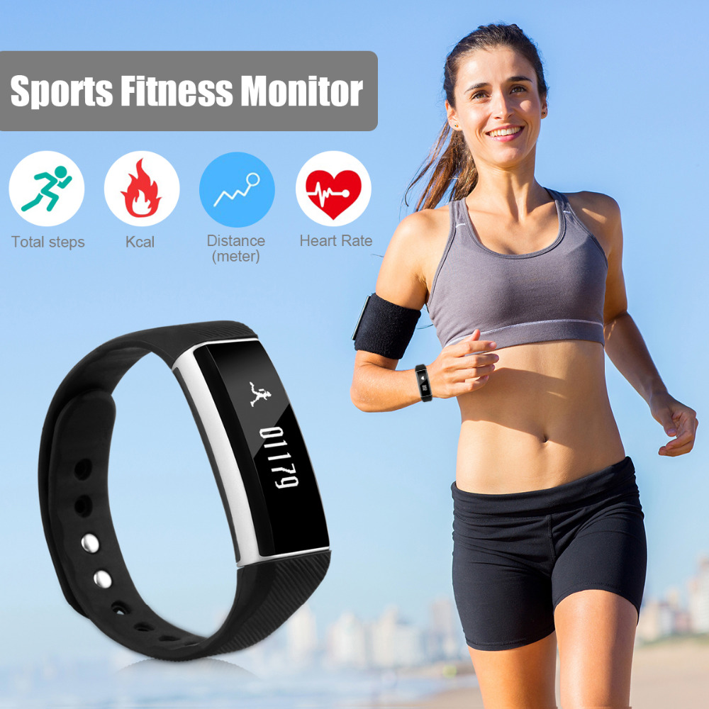Zeblaze ZeBand Bluetooth 4.0 Heart Rate Monitor bracelet OLED IP67 Swimming Slee