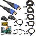 0.5/1/1.8/3/5/10/15 cm trançado hdmi para mini hdmi micro cabo hdmi v1.4 gold-plating adaptador conversor para xbox 360 hdtv tablet