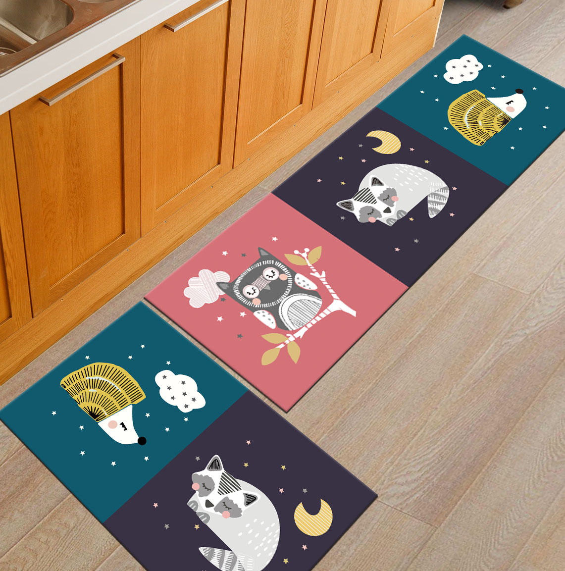 Современный геометрический Коврик для кухни, Противоскользящий коврик для ванной комнаты, домашний Коврик для прихожей/прихожей, коврик для шкафа/балкона, креативный ковер - Цвет: 7