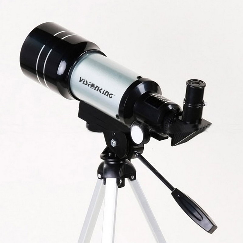 Visionking 70 300mm Refractor Astronomical Telescope 150X Space Sky Moon Observation Monocular Astronomy Scope With Trpod