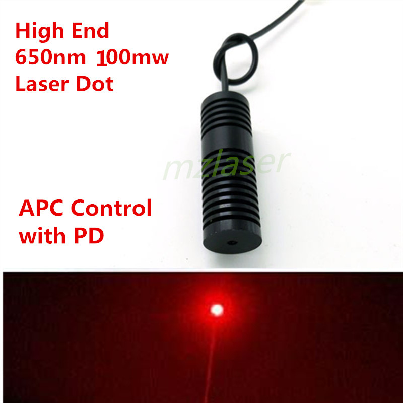 High End 20mm Red 650nm 660nm 100mW  Laser  Module Industrial Grade APC Control With PD Feback 10pcs lab industrial 5 6mm to18 80mw 100mw 650nm 660nm red laser diode ld w pd
