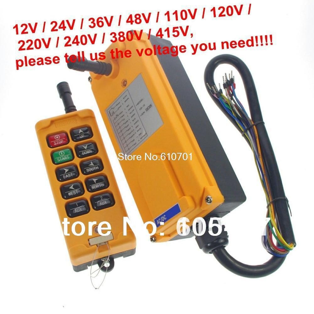4 Motions 10 Channels 1 Speed Hoist Crane Truck Radio Remote Control System Controller HS-10 Tell us the voltage you need4 Motions 10 Channels 1 Speed Hoist Crane Truck Radio Remote Control System Controller HS-10 Tell us the voltage you need