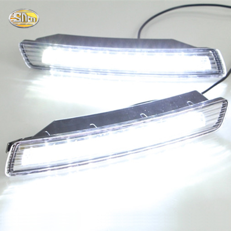 SNCN LED Daytime Running Lights for Volkswagen Vw Beetle 2007 2008 2009 2010 DRL Fog lamp with yellow turning signal lights daytime running light for vw volkswagen passat b6 2007 2008 2009 2010 2011 led drl fog lamp cover driving light