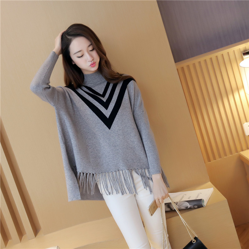 sweater women2017 new autumn and winter clothes style casual sweater womens style casual knitwear, Korean version of the tassel