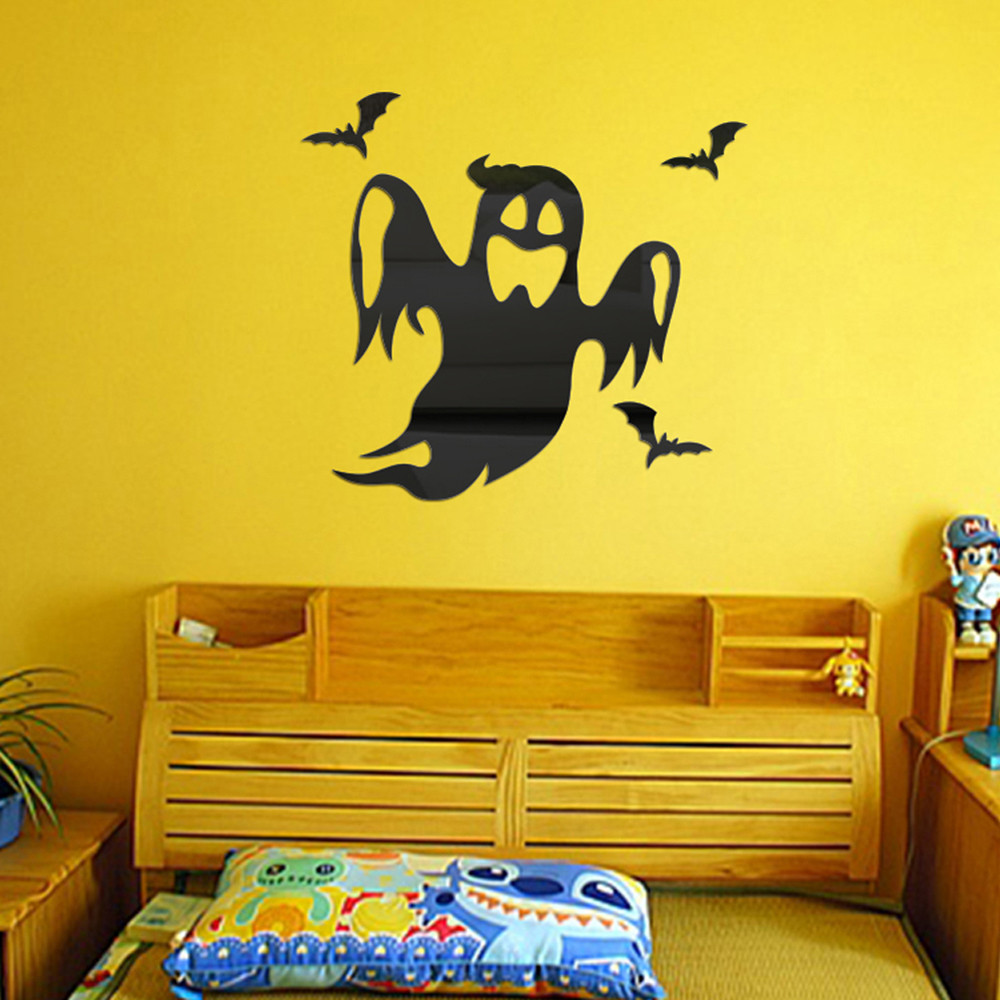 new wall sticker halloween decoration kids halloween costumes for girls pegatinas 3d para halloween party decoration