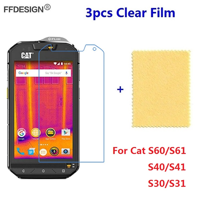 3pcs Clear LCD Screen Protector For <font><b>Cat</b></font> S60 <font><b>S61</b></font> S40 S41 S30 S31 Protective Film Screen Foil Cover Guard Saver image