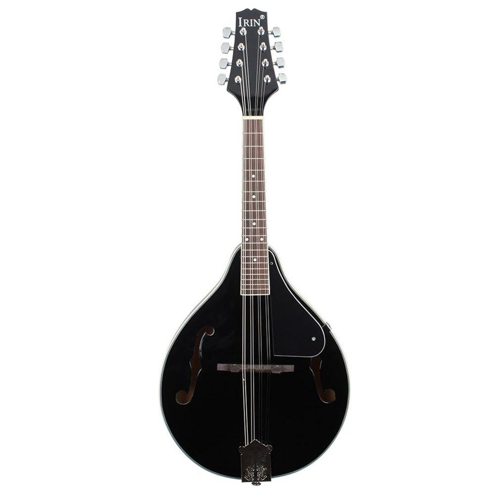 HOT-IRIN Sunburst 8 cordes Basswood mandoline Instrument de musique avec palissandre acier chaîne mandoline Instrument à cordes ajuster