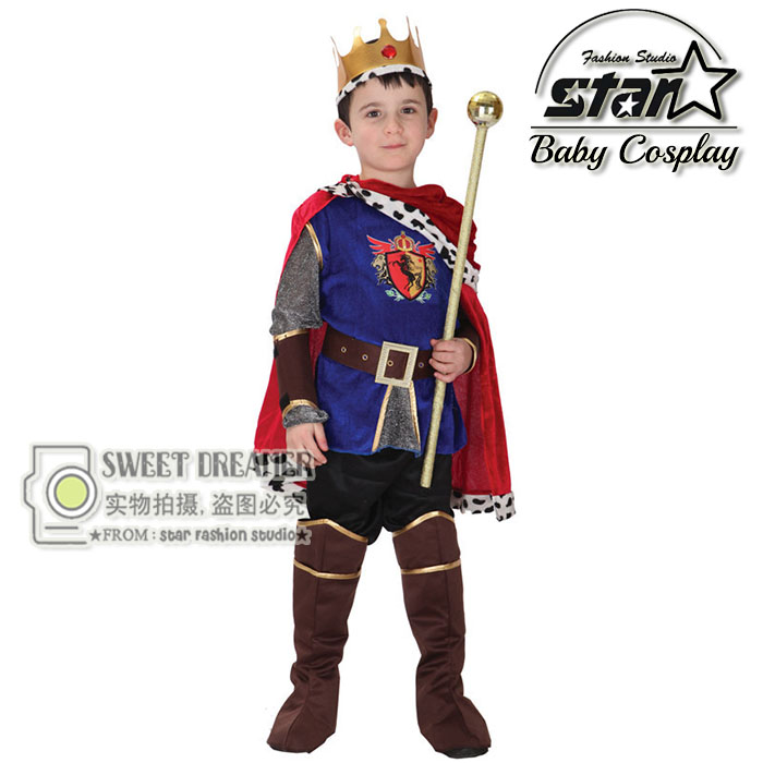 Carnival Cute Halloween Cosplay Costume for Children The King Costumes Children's Day Boys Prince Fantasia Kids Set Suits reset chip lc663 lc665 lc667 lc669 chip resetter for brother mfc j2320 mfc j2720 printers ink cartridges