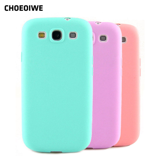 CHOEOIWE Phone Cases for Samsung Galaxy S3 Neo i9301 SIII I9300 GT-I9300 Duos i9300i Silicone Case Candy Pink Color Cover Shell