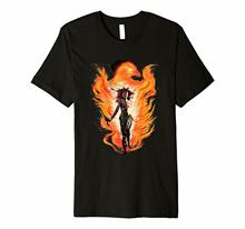 Marvel X-Men Rise Of The Dark Phoenix Movie 2019 Flames Premium T-Shirt Hot Summer MenS T Shirt Fashion