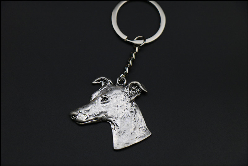 New Fashion Whippet dog Keychain Popular ITALLAN Greyhound dog Key Chain Key Ring