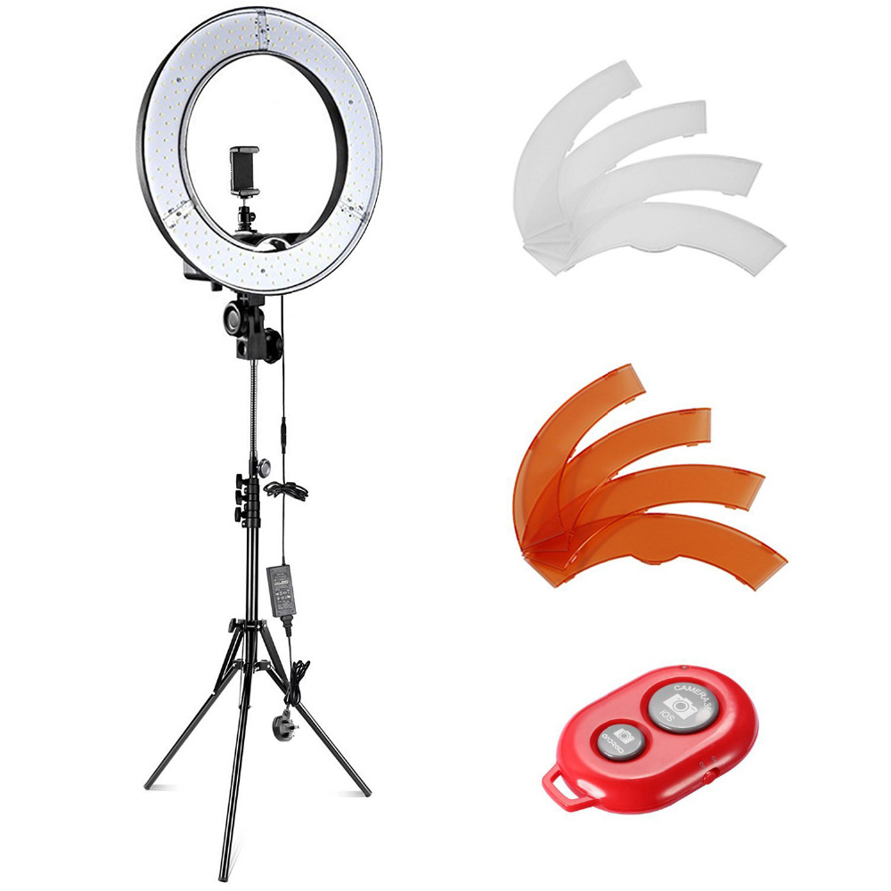 Neewer Camera Photo Video Light Kit 55W 5500K Dim LED Ring Light Stand for Smartphone Youtube Vine Self-Portrait Video Shooting