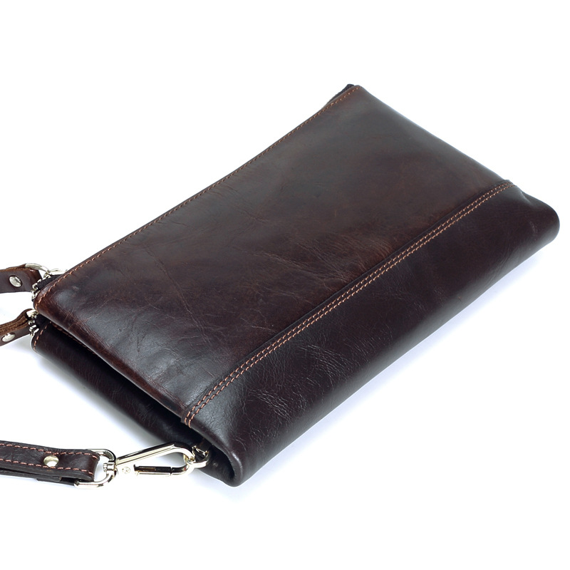 New Men Genuine Leather Bag Zipper Large Capacity Long Male Clutch Wallet Coin Bag Purse Phone Bag ID Credit Card Holder freccia w15081307918