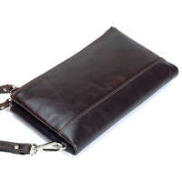 New Men Genuine Leather Bag Zipper Large Capacity Long Male Clutch Wallet Coin Bag Purse Phone