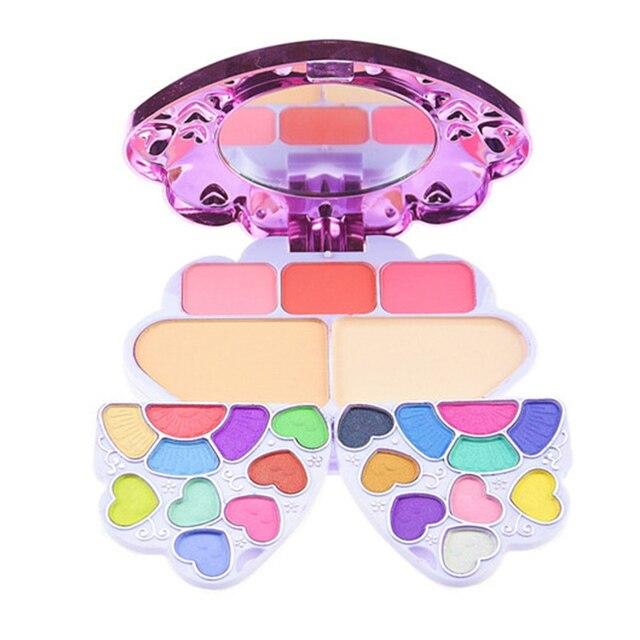 Shell Shaped Eye Shadow Palette Shimmer Matte Colors Make Up Kit Blusher Sweet peach Lip gloss Powder brush set MakeUp Palette