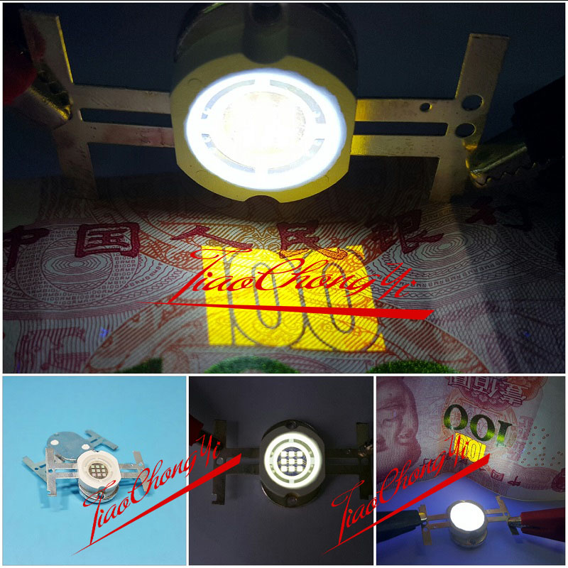 10W Round High Power LED UV Light Chip 365-370nm 1050mA Ultra Violet LAMP 1PCS 10w 12w ultra violet uv 365nm 380nm 395nm high power led emitting diode on 20mm cooper star pcb