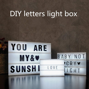 Image 2 - 2020 New A4 A5 A6 Size LED Combination Night Light Box  Lamp DIY BLACK Letters Cards USB PORT Powered Cinema Lightbox