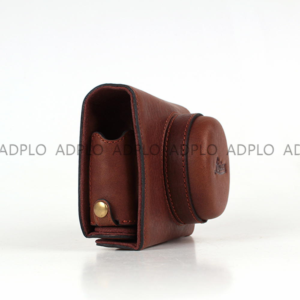 Hand-made Dark Brown Leather Half Camera Case Bag Cover Protector Suit For Leica T(Typ109) whole sale hand made human hair false eyebrow 013 dark brown color invisible net