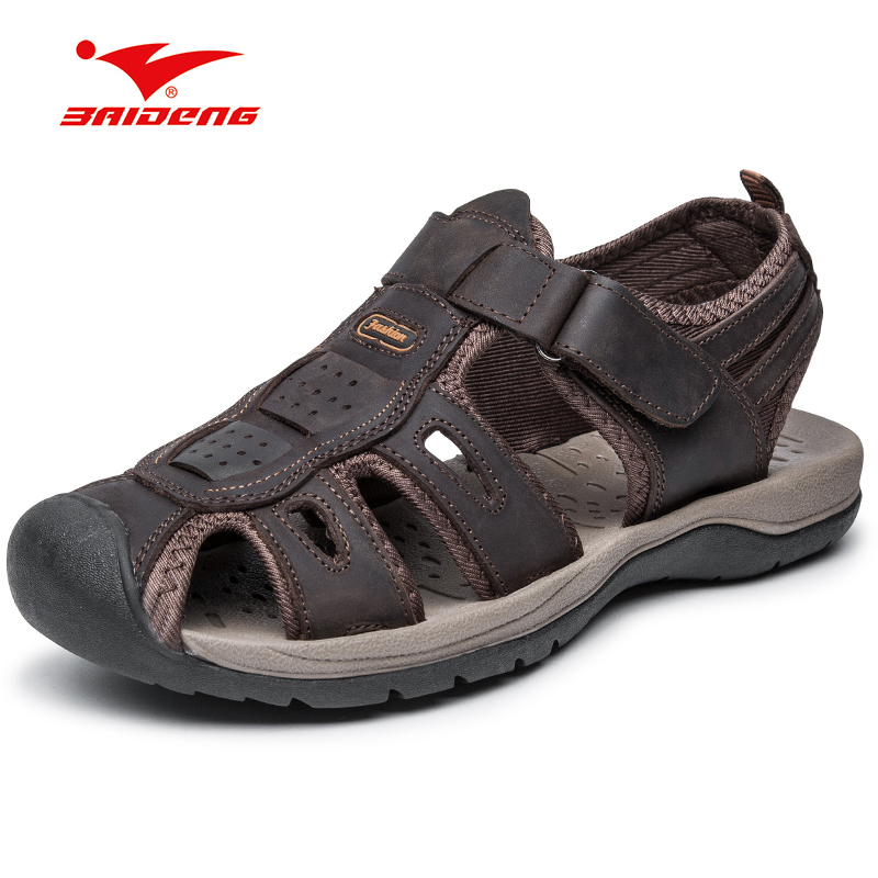 Light Weight Trekking Outdoor Shoes Hook loop Breathable Closed Toe Summer font b Sandals b font