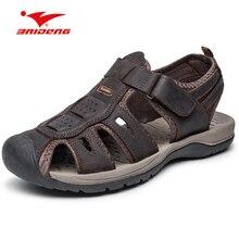 Свет Вес Поход уличной обуви Hook & Loop дышащий закрытым носком сандалии летние мужские