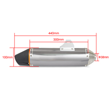 38MM Universal GP Staineless Steel Exhaust Mufflers With DB Killer For Honda CRF150F CRF230F 2003-2016 Dirt Bike Motorcycle