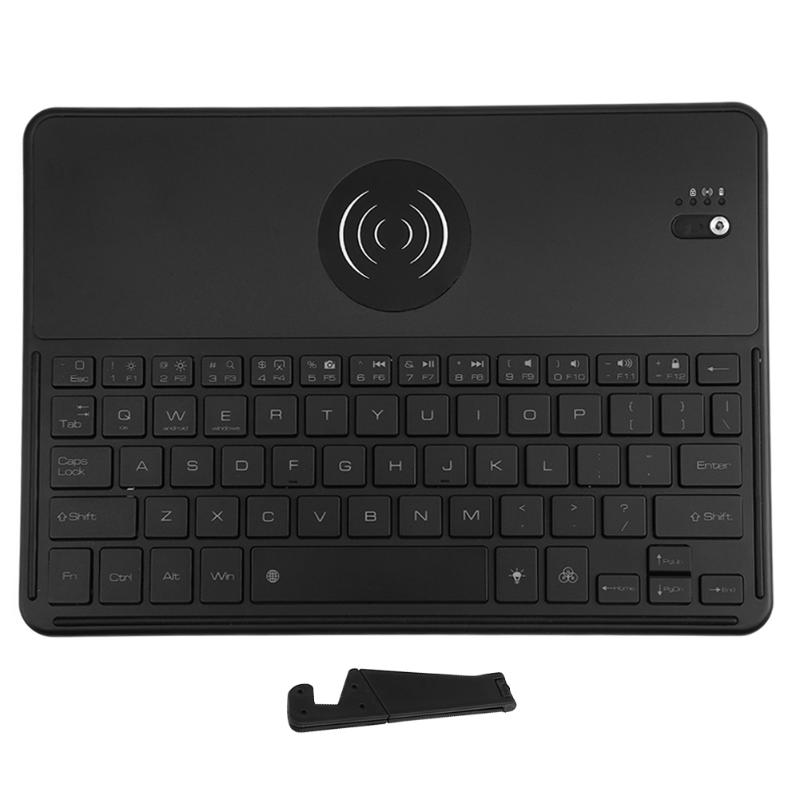 Bluetooth 3 0 Keyboard with QI font b Wireless b font Charging Function 7 Color Backlit
