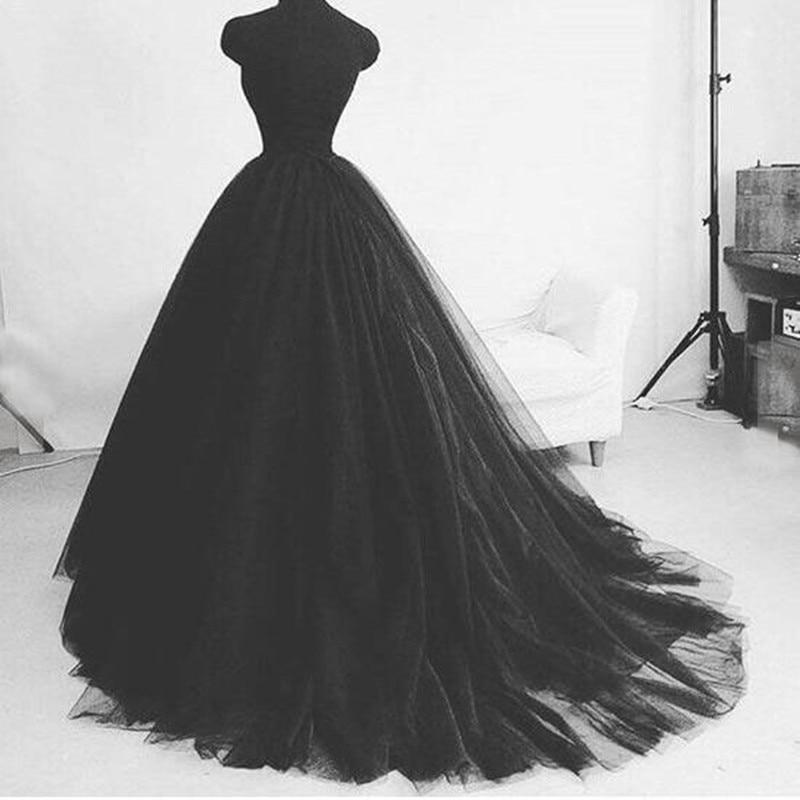 Black Soft Tulle Floor Length Formal Ball Gown Skirts Custom Pleated Wedding Fashion Vintage Long Skirts