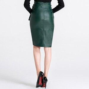 Image 5 - 3XL 4XL Pu Lederen Rok Vrouwen Plus Size Herfst Winter Sexy Hoge Taille Faux Leather Rokken Womens Belted Mode Potlood rok