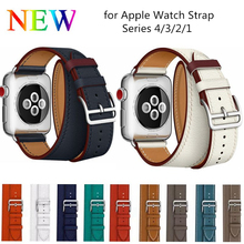 Double Tour Band for Apple Watch Series 4 3 2 1 Strap for iWatch Belt High Quality Genuine Leather Loop 38mm/40mm /42mm/44mm