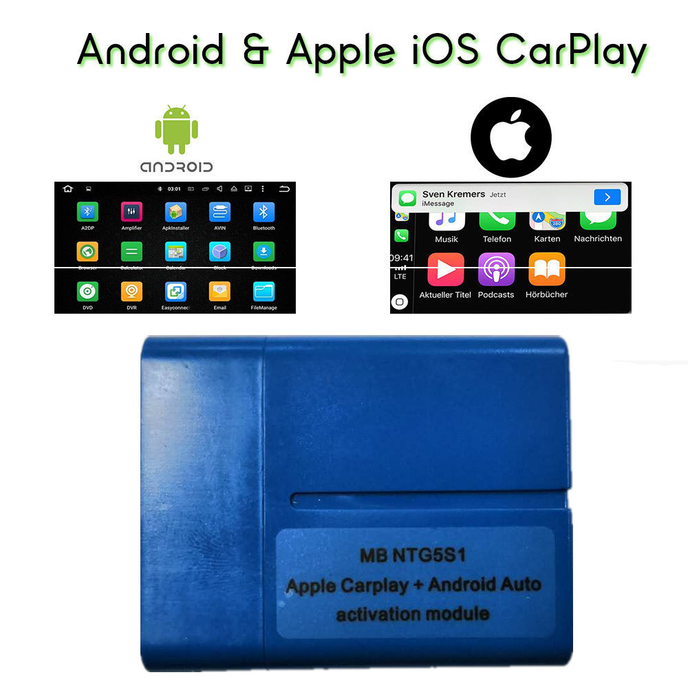 2019 The Newest CarPlay For Mercedes Benz NTG5 S1 Apple CarPlay And Android Auto Activation Tool IPhone/Android Free Shipping