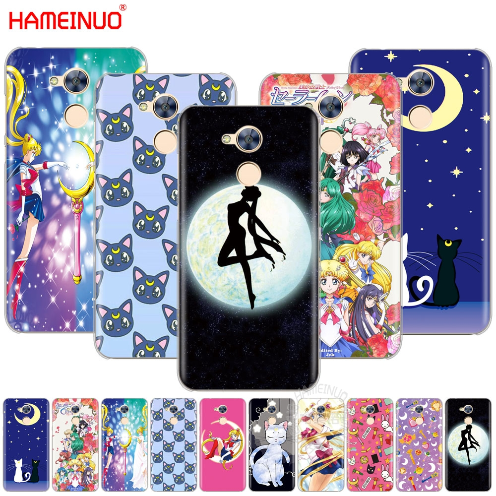 The Best Hameinuo Sailor Moon Girls Cell Phone Cover Case For Huawei Honor 4a 5a 6a 6c 6x 8 9 Nova Plus Lite Half-wrapped Case