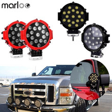 Marloo Car accessories 2 x 51w 7Inch Spot Work Light Off Road Fog Driving Roof Bar
