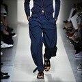 28-38 Новой весны и лета свободные брюки мужские шаровары ноги штаны прилив большой размер широкие ноги брюки этап певица костюмы