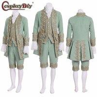 Косплей Сделай Сам Взрослый мужской Викторианский элегантный готический аристократ 18 го века джентльмен Косплей средневековый королевски